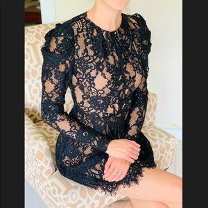 Michael Kors lace long sleeve mini dress